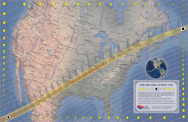 Nasa Interactive Solar Eclipse Map.The April 8 2024 Total Solar Eclipse American Eclipse